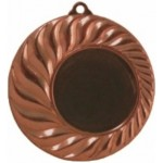 медаль MD10045c бронза, d 45 мм. вкл. 25 мм.
