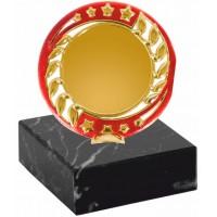 Эмблемоноситель K21 золото-красный, h 9 см., вкладыш 50 мм