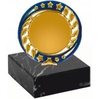 Эмблемоноситель K20 золото-синий, h 9 см., вкладыш 50 мм